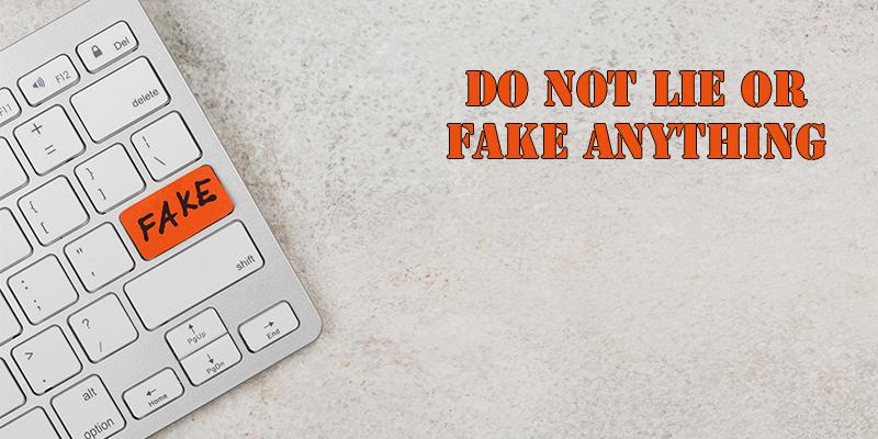 Not claim fake anything