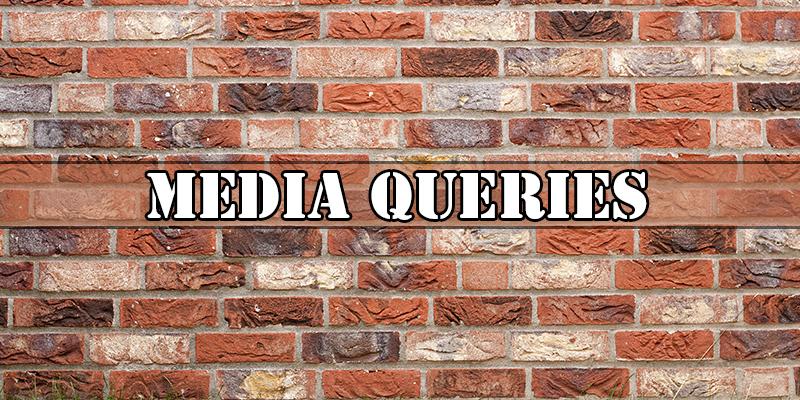 Media queries for responsive web design