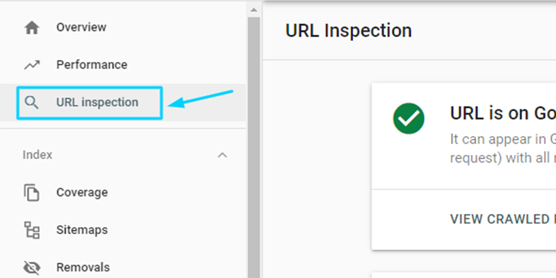URL Inspection in Search Console